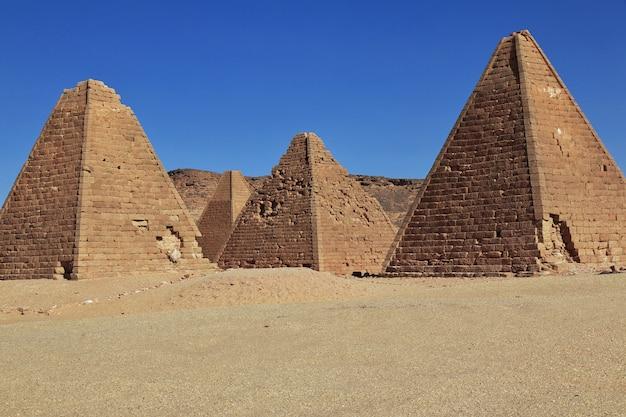 Ancients piramides in jebel barkal, soedan