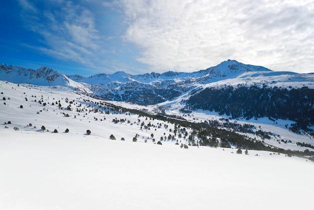 Andorra grandvalira in de buurt van pas de la casa