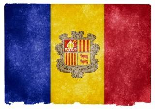 Andorra grunge vlag