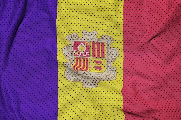 Andorra vlag gedrukt op een polyester nylon gaas