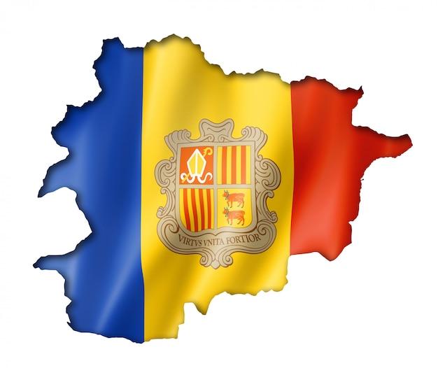 Andorrese vlag kaart