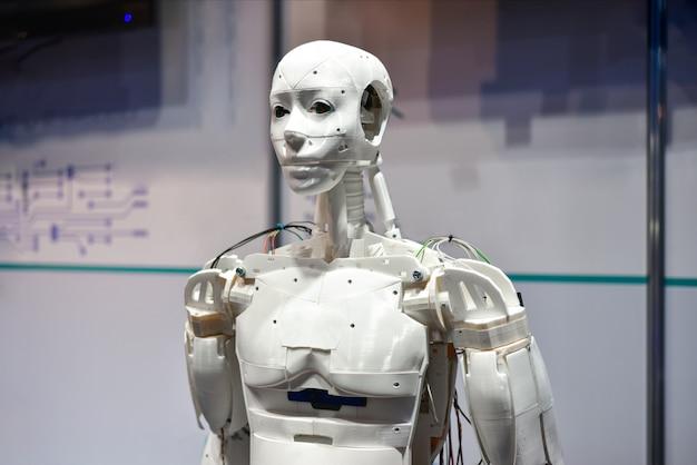 Android-robot afgedrukt op 3d-printer