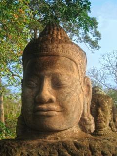 Angkor wat beeldhouwkunst hdr voorraad