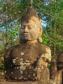 Angkor wat sculptuur hdr blackwhite