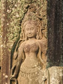 Angkor wat sculptuur landmark