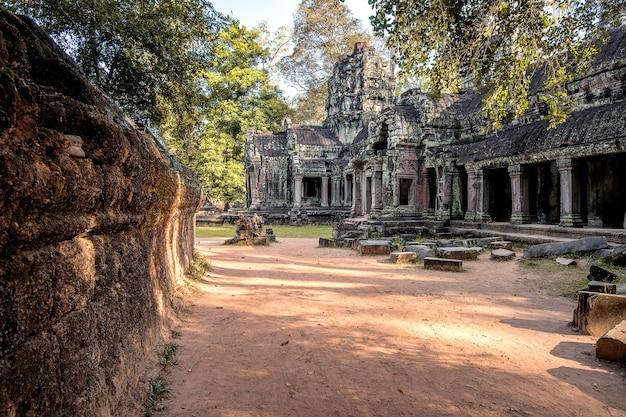 Angkor wat-tempel, siem oogst in kambodja. Premium Foto
