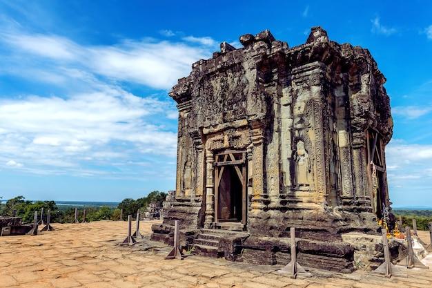 Angkor wat-tempel, siem oogst in kambodja.