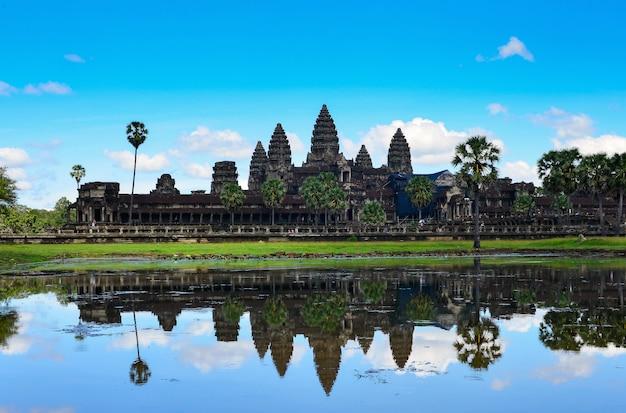 Angor wat, oude architectuur in cambodja, wereld heritage angor wat, cambodja