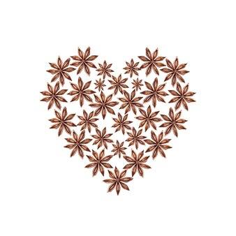 Anijs in hartvorm