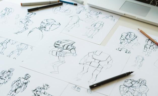 Animatie karakter ontwerp video game filmproductie
