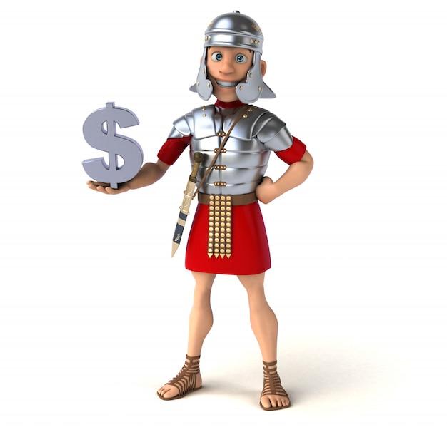 Animatie van de romeinse soldaat