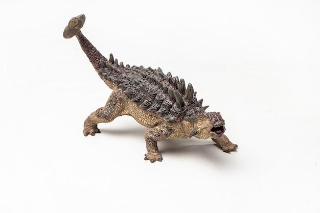 Ankylosaurus dinosaur op witte achtergrond