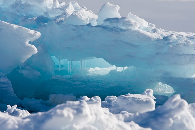 Antarctische gletsjer. natuur achtergrond