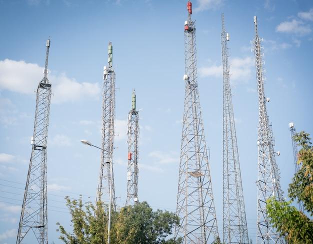 Antenne in de stad
