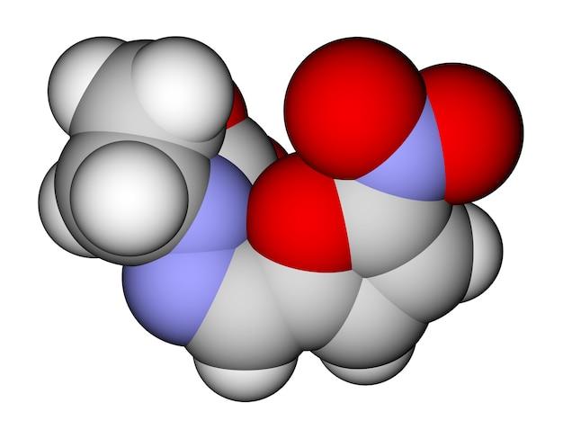 Antibacterieel furazolidon ruimtevullend moleculair model