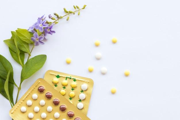 Anticonceptiepillen van vrouwen die geen baby willen hebben