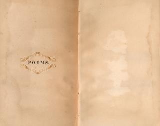 Antiek gedichten papieren sjabloon