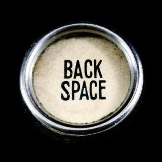 Antieke backspace-toets typografische