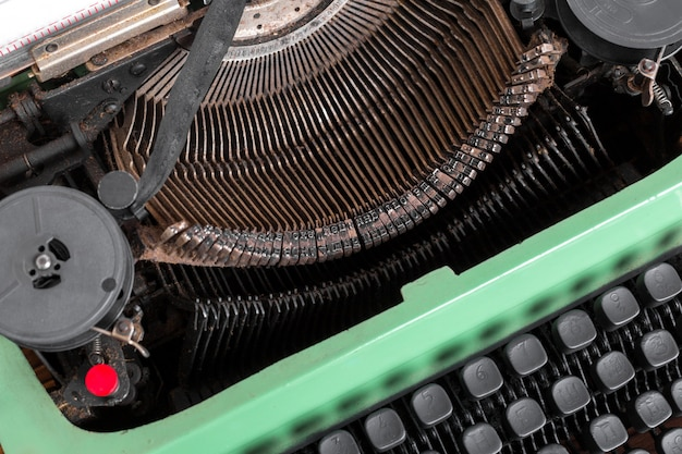 Antieke typemachine. vintage typemachine machine