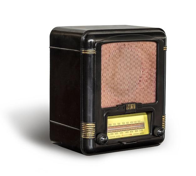 Antieke zwarte radio