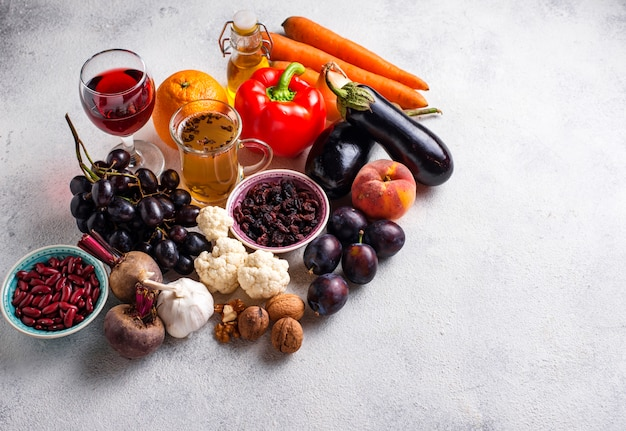 Antioxidanten in producten. schoon eten