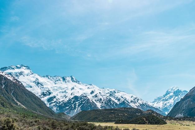 Aoraki mount cook de hoogste berg van nieuw-zeeland
