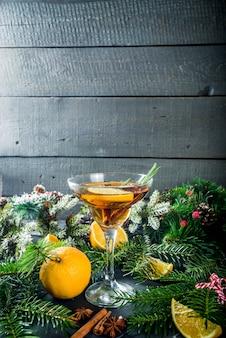 Aperol van de de alcoholcocktail van de kerstmiswinter aperol spritz
