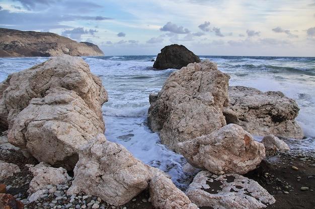 Aphroditestrand op middellandse zee, cyprus