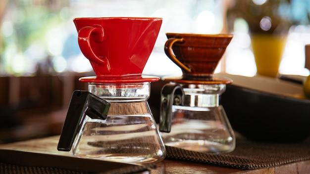 Apparatuur voor het drinken van koffie