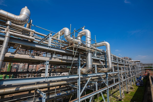 Apparatuur voor raffinaderijen voor olie en gas in pijpleidingen