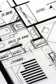 Appartementtekeningen in het frans