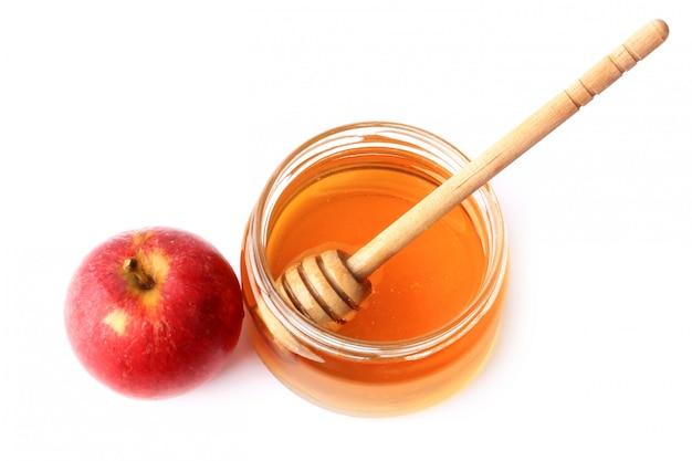 Appel en honing geïsoleerd