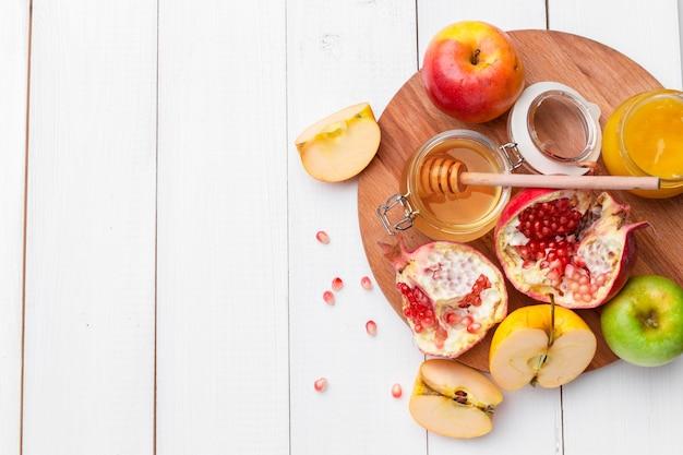 Appel en honing, traditioneel voedsel van joods nieuwjaar