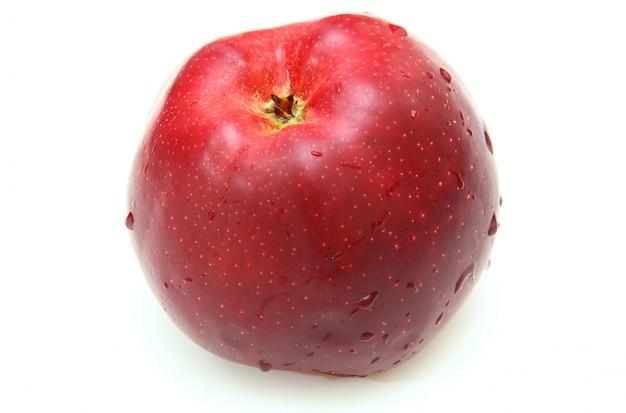 Appel geïsoleerd op wit