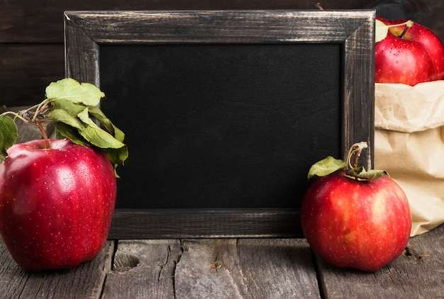 Appels en schoolbord
