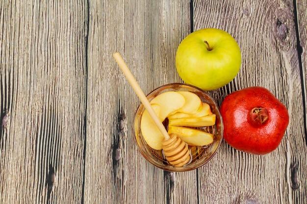Appels, granaatappel en honing voor rosj hasjana