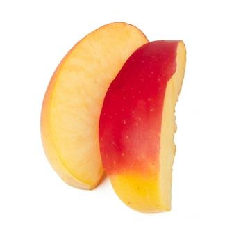 Appels op een witte achtergrond