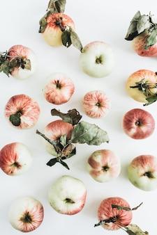 Appels patroon op wit oppervlak