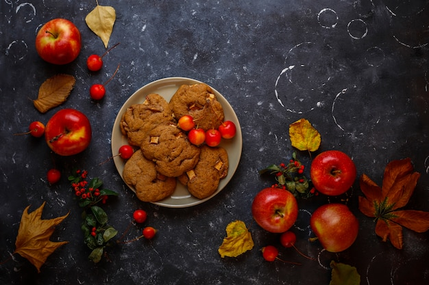 Apple-koekjes met kaneel