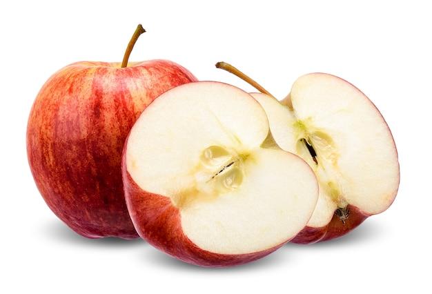 Apple op wit met het knippen van weg wordt geïsoleerd die