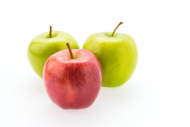 Apple op wit wordt geïsoleerd dat