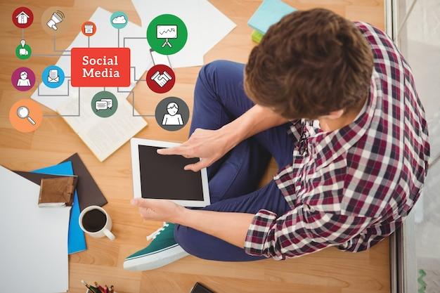 Apps werkplek social media houden beroep