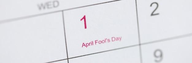 April dwazen dag is gemarkeerd op kalender april dwazen dag viering concept