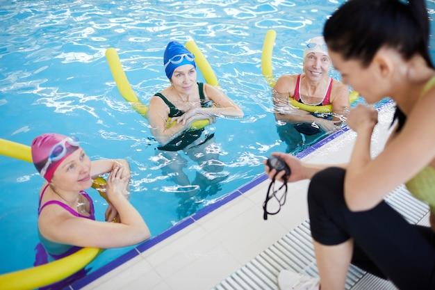Aqua aerobics training