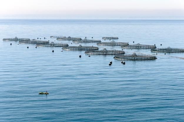 Aquacultuur in de middellandse zee