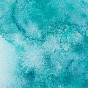 Aquamarijnmix van verven op papier