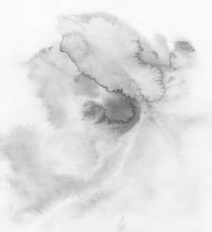 Aquarel abstracte grunge achtergrond, zwart-wit, handgeschilderde textuur, aquarel vlekken.