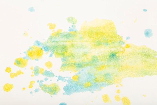 Aquarel achtergrond gekleurde penseelstreken van aquarel verf op wit papier hoge kwaliteit foto