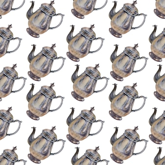 Aquarel achtergrondafbeelding met het koffiezetapparaat