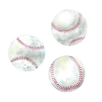 Aquarel ballen voor honkbalspel